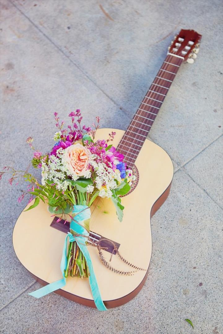Floral Guitar Decor