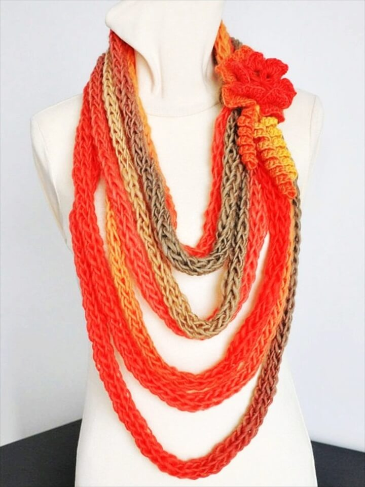 stylish crochet scarf
