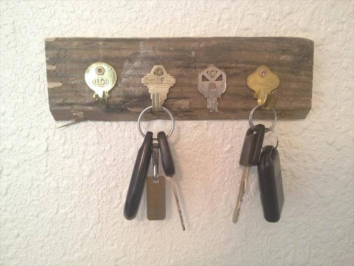diy key holder idea