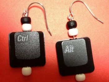 Upcycled keyboard Earrings