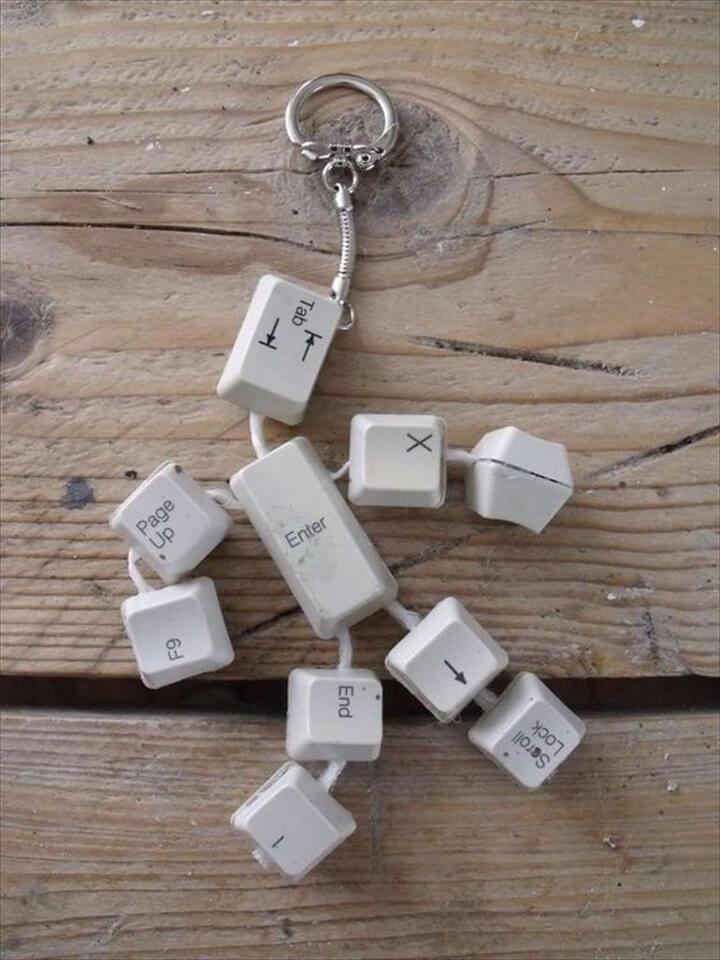 Cute idea for an old keyboard.