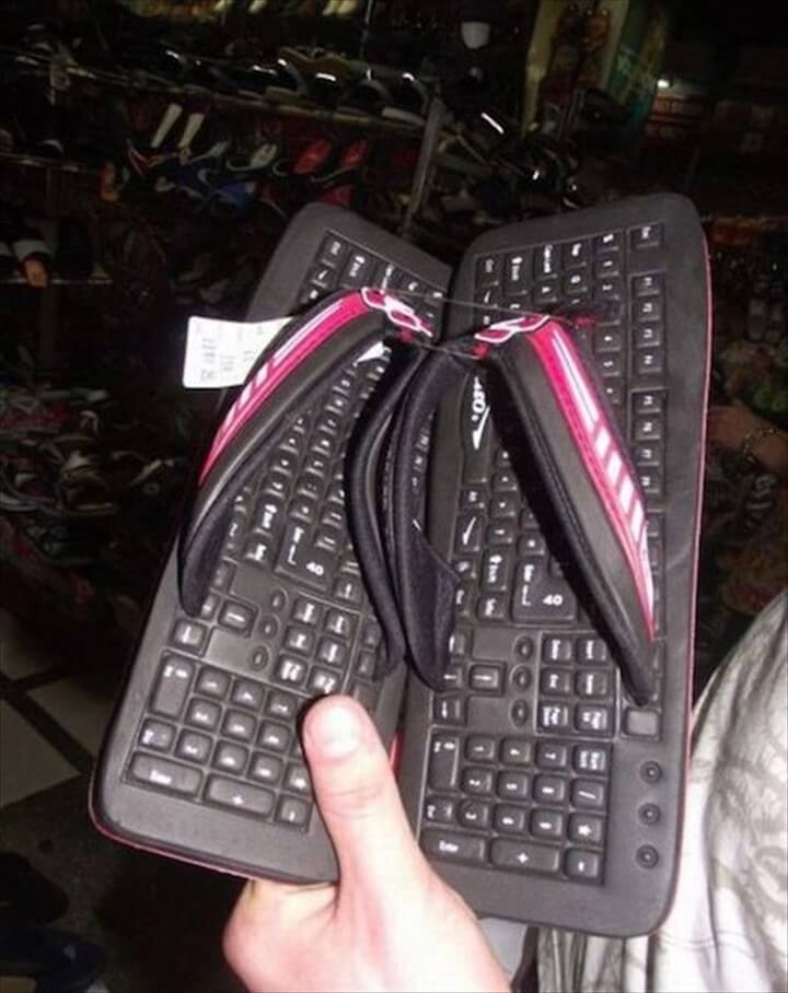 The Keyboard Slippers
