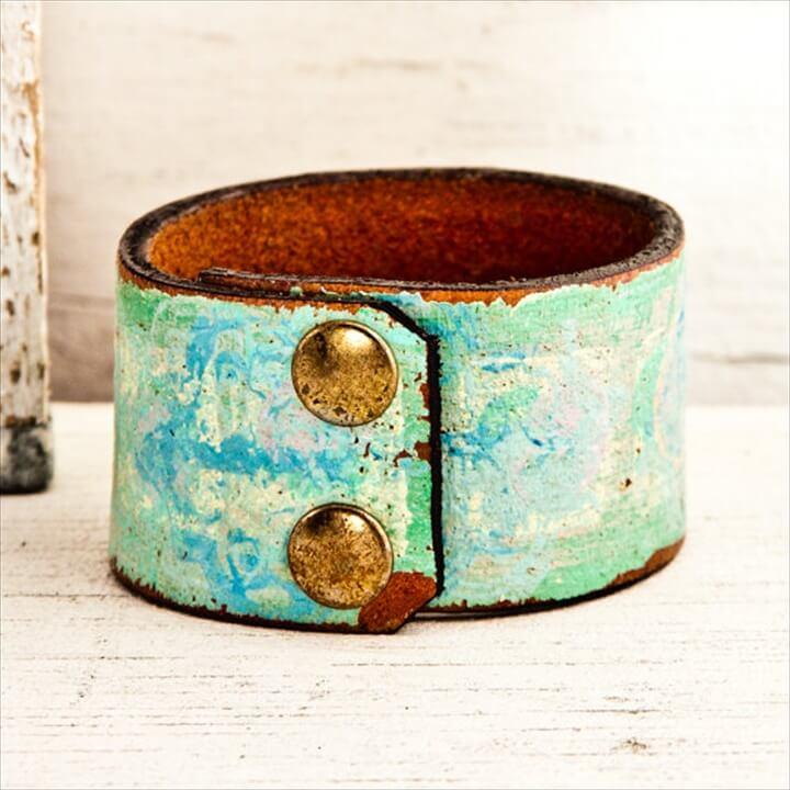 Summer Colors Women's Leather Wristbands Cuffs Bracelets