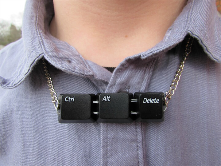 This quirky recycled necklace was featured on a blog centered around unusual ideas