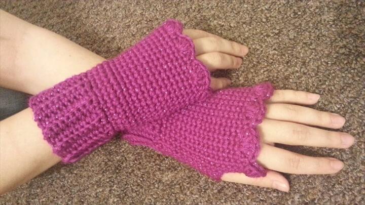 Crochet Fingerless gloves Wristers