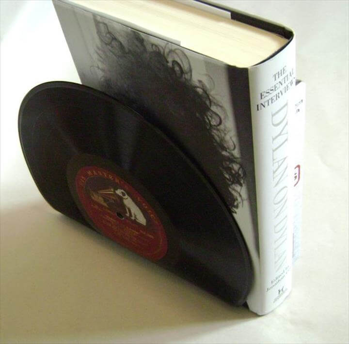 Picture of Vinyl Record Bookends