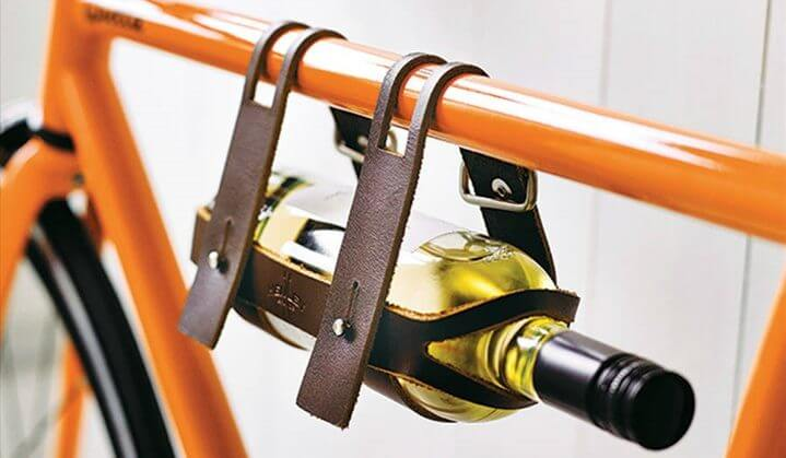 Creative bike storage - for wine bottles