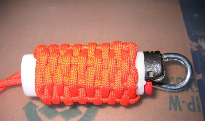DIY Chain Sinnet Paracord Bottle Wrap
