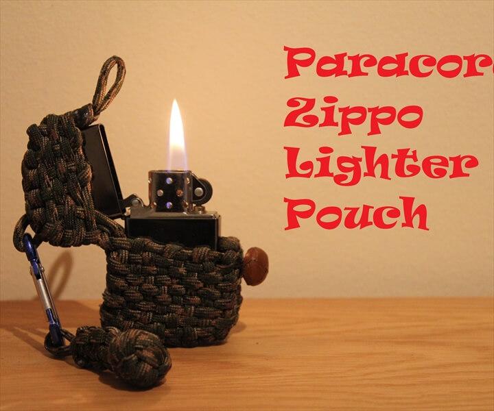 DIY Paracord Zippo Lighter Pouch