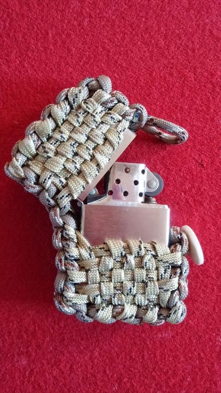 DIY Paracord Zippo Lighter Pouch