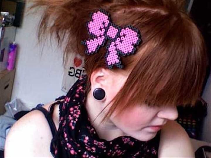 Hair Bow Perler