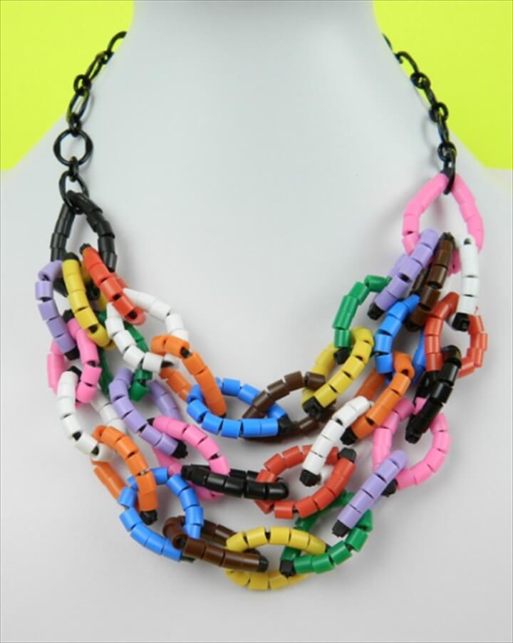 DIY Perler Beads and Zip Ties Necklace