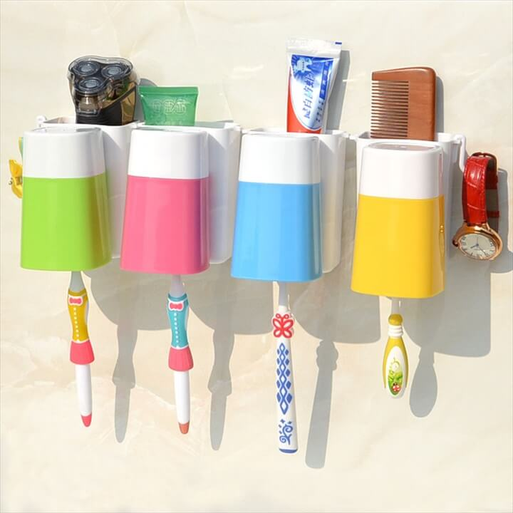 Piece DIY Toothbrush Holder With Cup