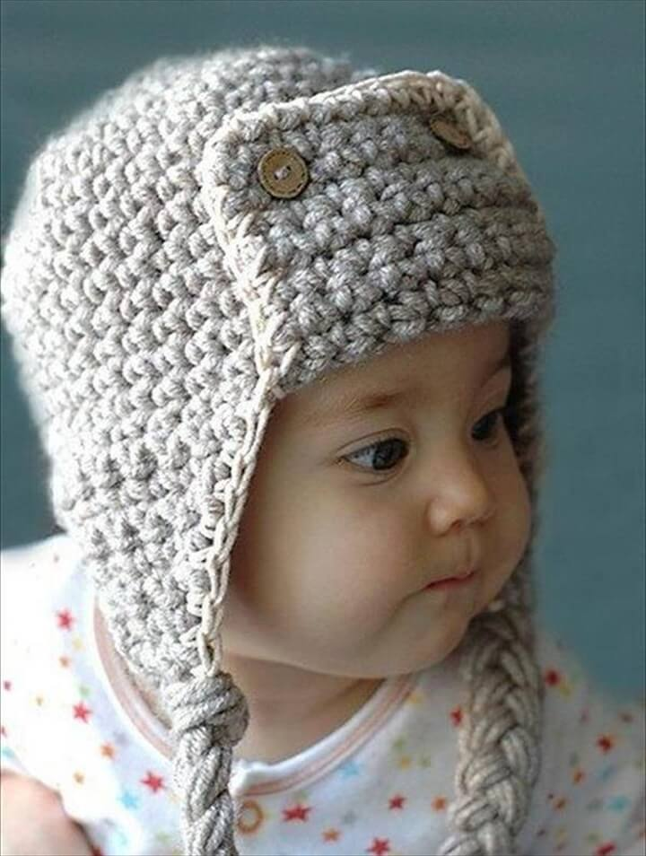free pilot crochet hat for kids