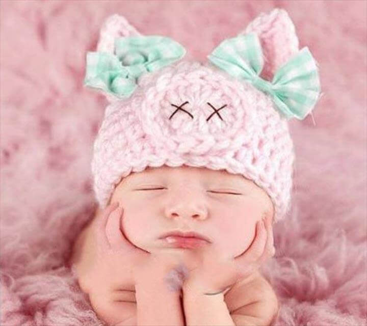 DIY Crochet Baby Beanie- screenshot