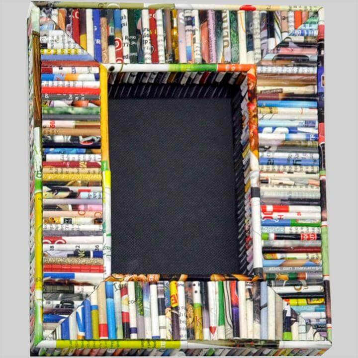 Recycled Magazine Photo Frame
