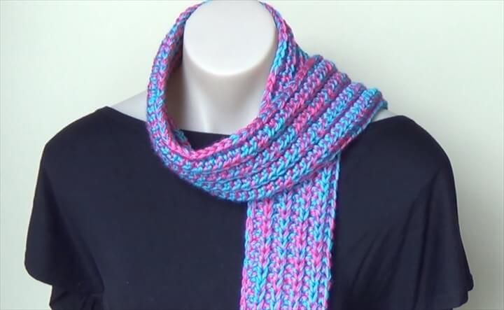 Ribbed Scarf Crochet Tutorial