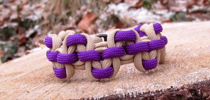 Serpent's river bar paracord bracelet
