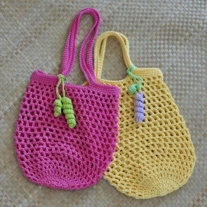 Small Jemma's Market Bag N Mesh Tote Crochet Pattern