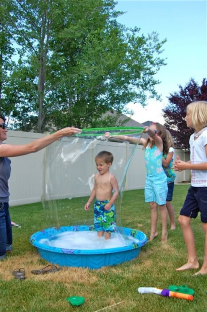 DIY Giant Pool Bubbles