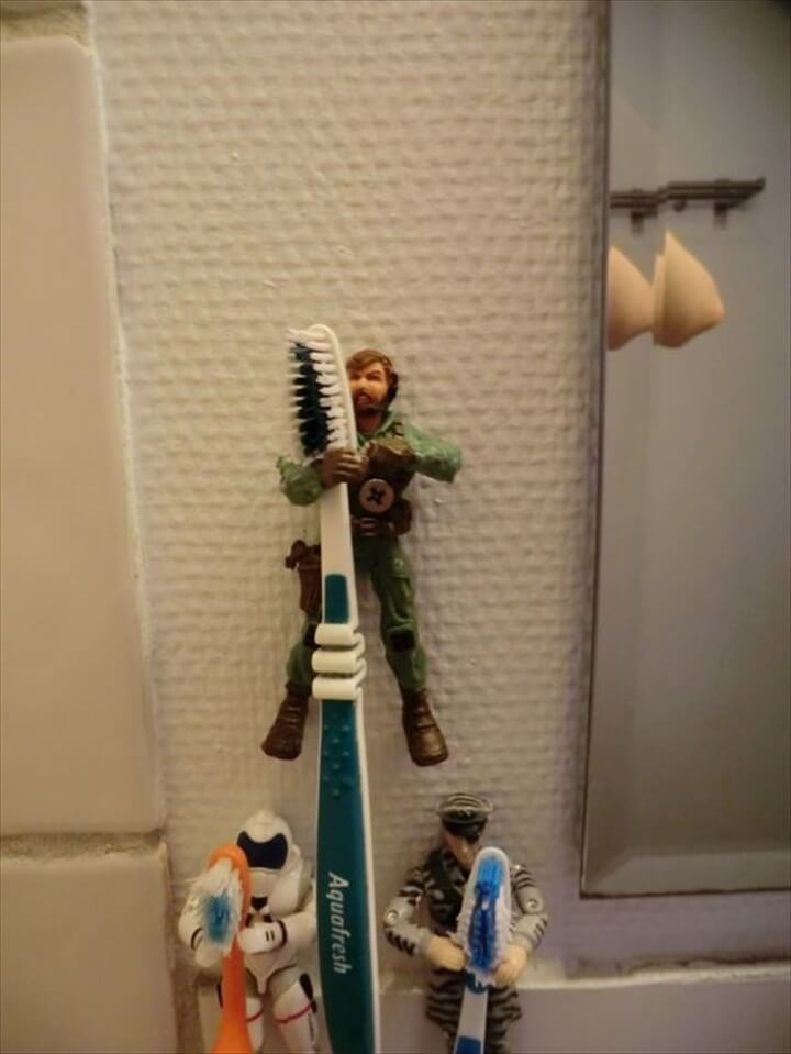 Action Figure Toothbrush Holder