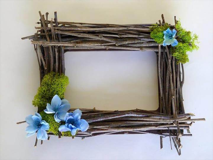 a twig frame from twigs found in your backyard