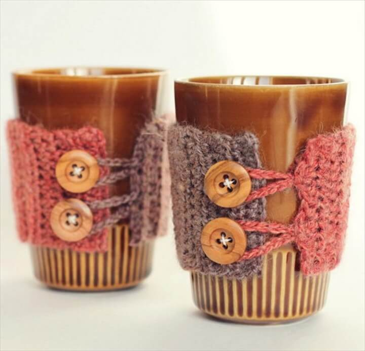 Crochet Coffee Cozy Tutorials |