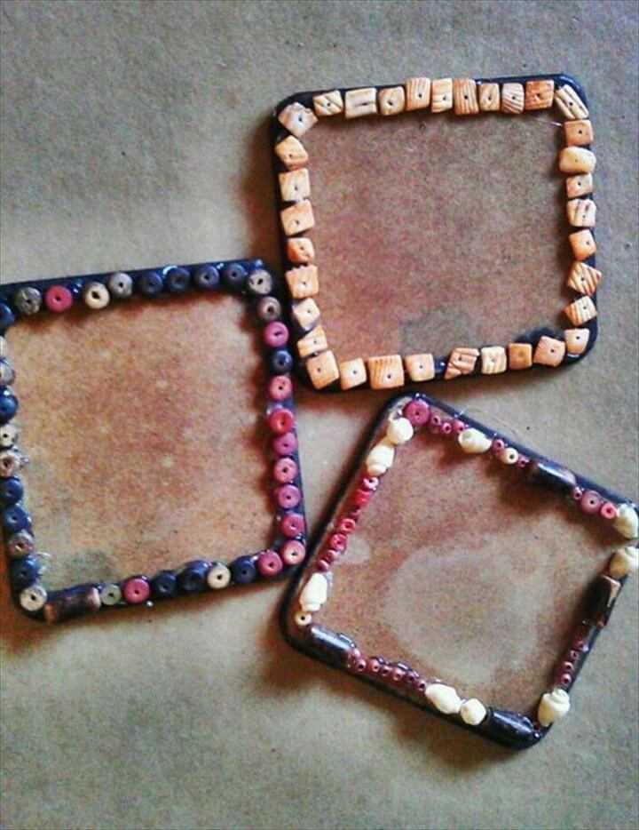 Upcycled Square Coasters