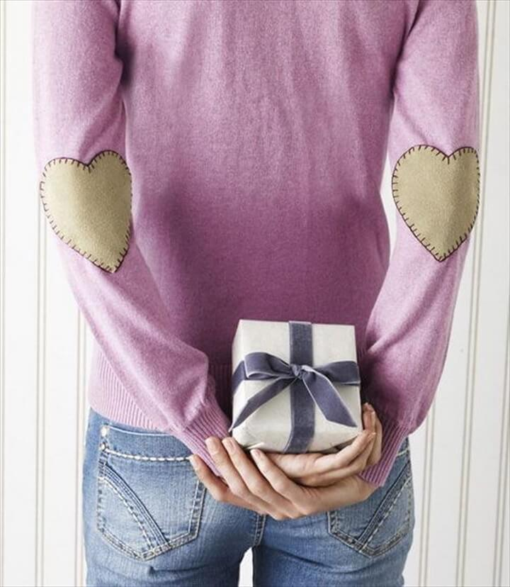 Valentine Day Heart Elbow Patch