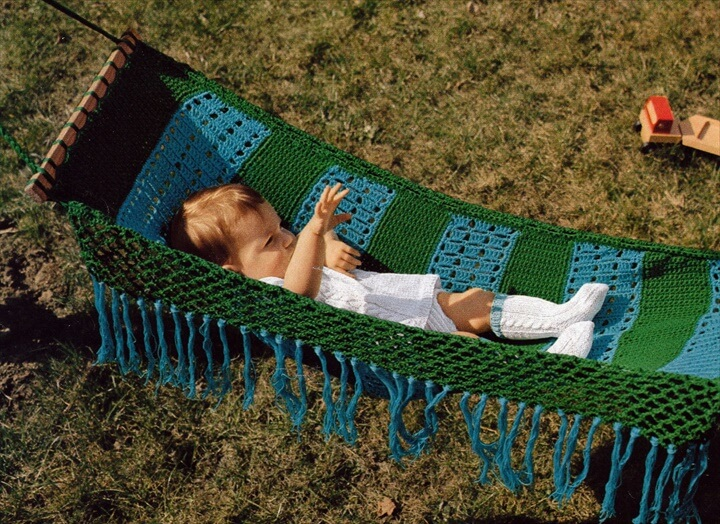 Crochet Baby Hammock Vintage Crocheting