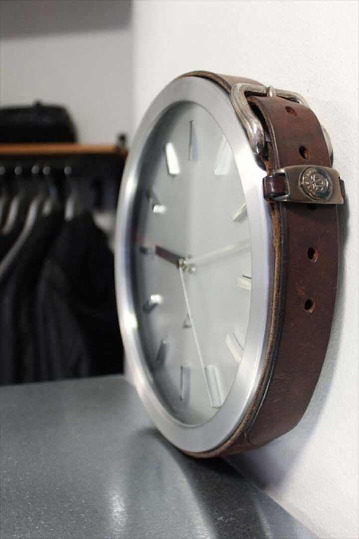 Decorate your simple clock and make it look vintage.