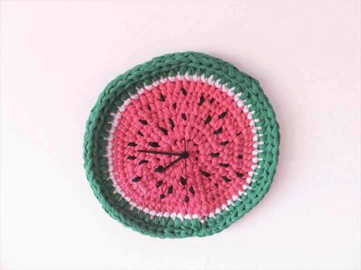 DIY Watermelon Clock-Creative DIY Clocks
