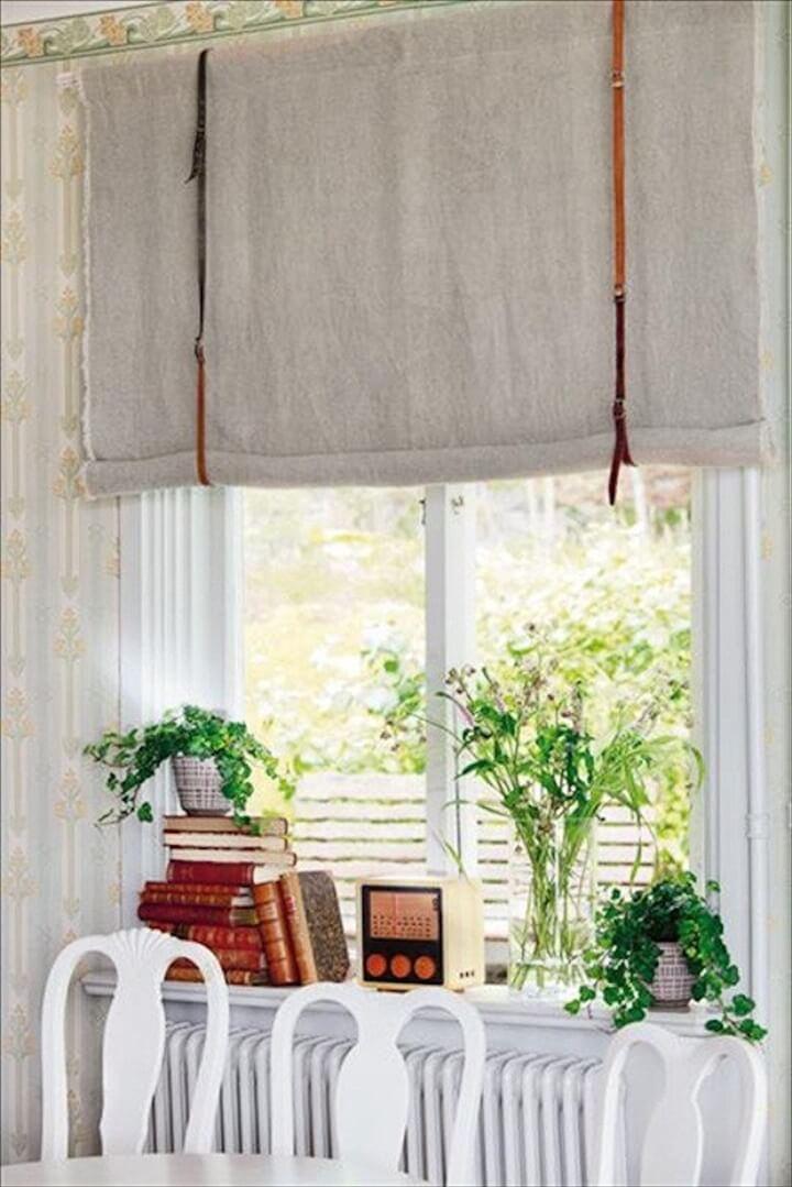 diy leather window treatment