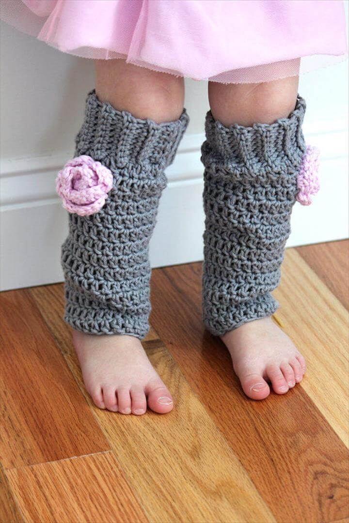 Baby Girl Leg Warmers Crochet Cotton Leggings
