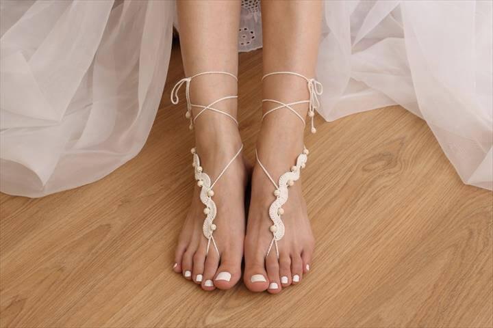 20 Barefoot Crochet Sandals Pattern Ideas