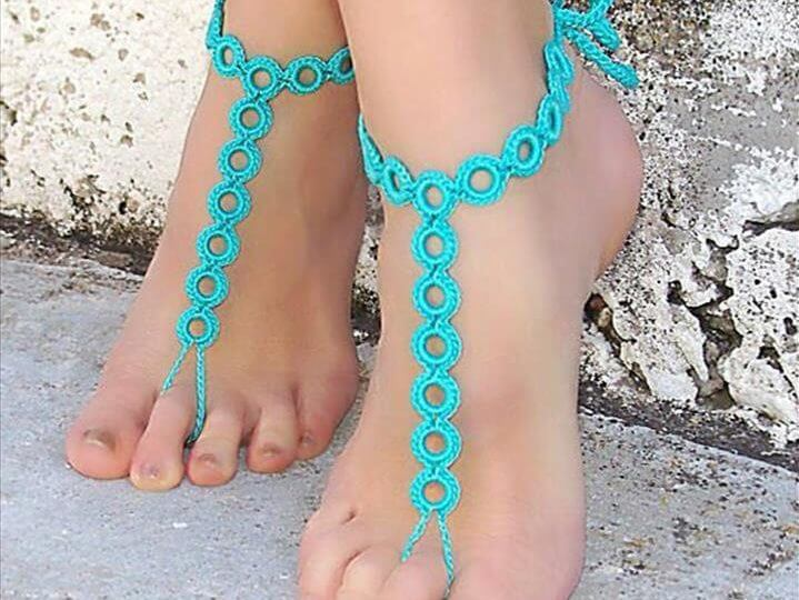 20 Barefoot Crochet Sandals Pattern Ideas