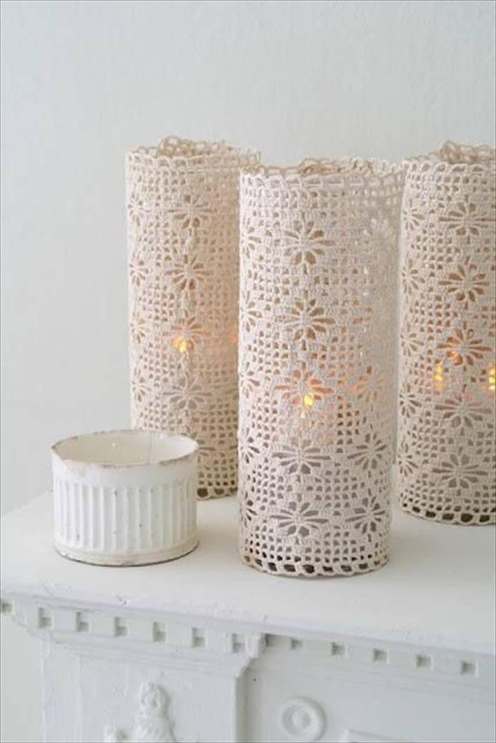 crochet lace lamp