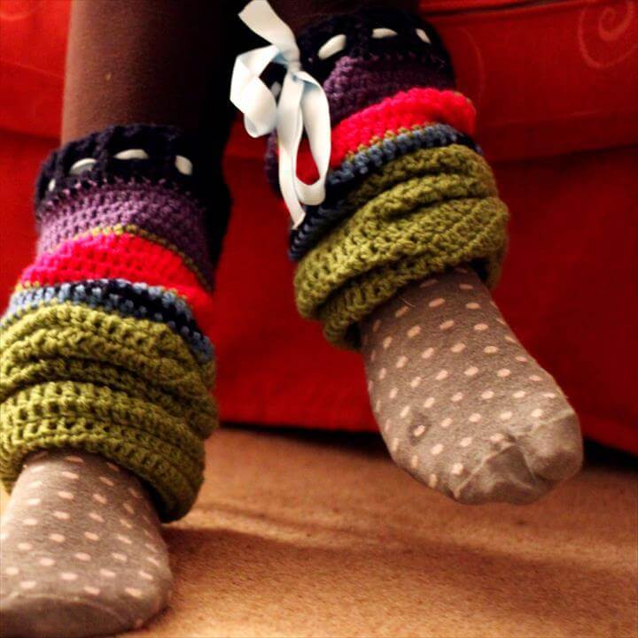 Big Crochet Leg Warmers
