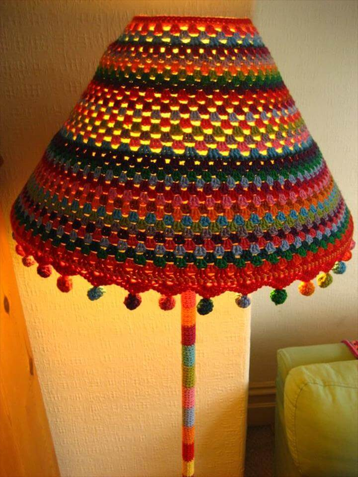 15 Crochet Lampshades To Light Into Your Home