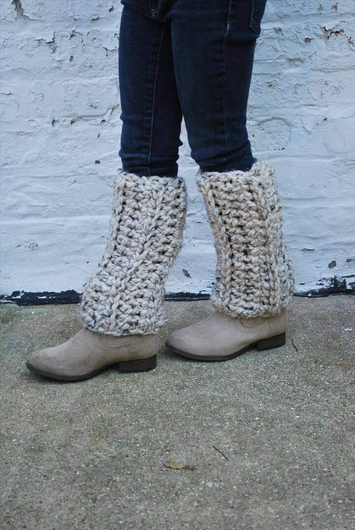 diy crochet leg warmer