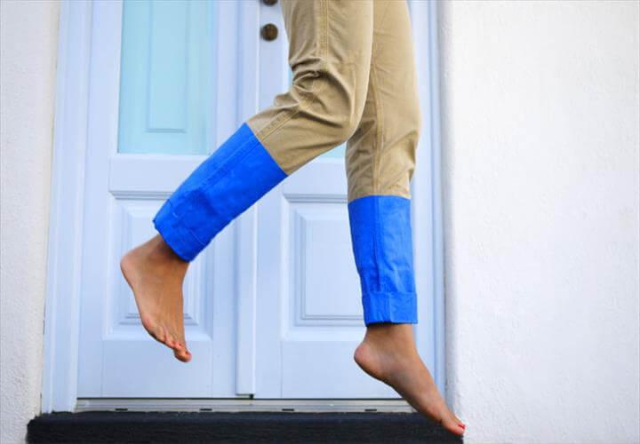 Color Blocked Pants