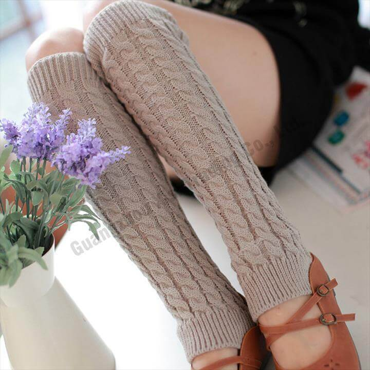 crochet leg warmer