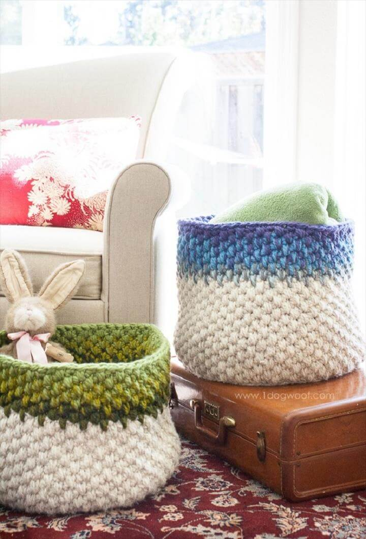 crochet basket for youe nice home