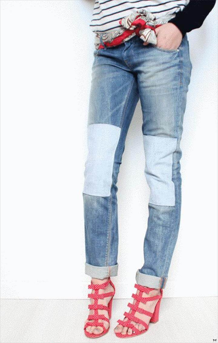 color block jeans