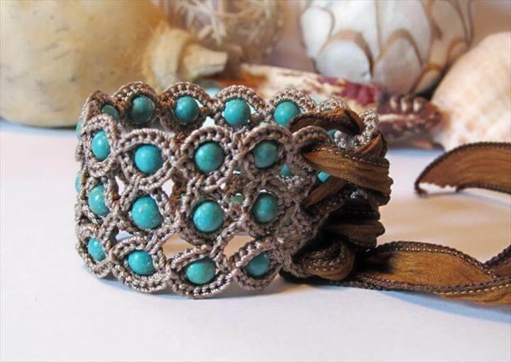 Corset Cuff Crochet Bracelet