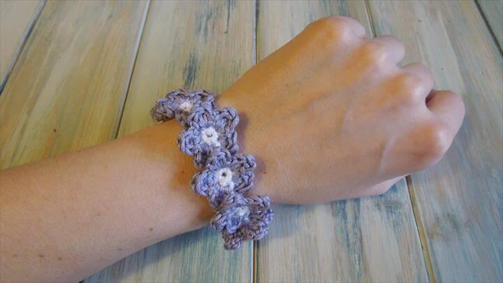 Crochet a Flower Bracelet