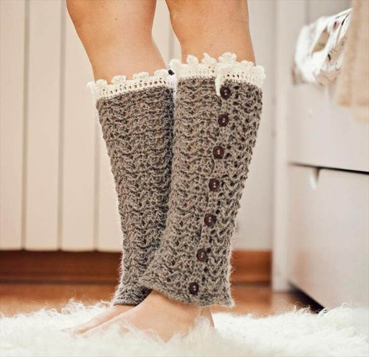 40 Adorable Crochet Winter Leg Warmer Ideas DIY To Make New Crochet Leg Warmer Pattern