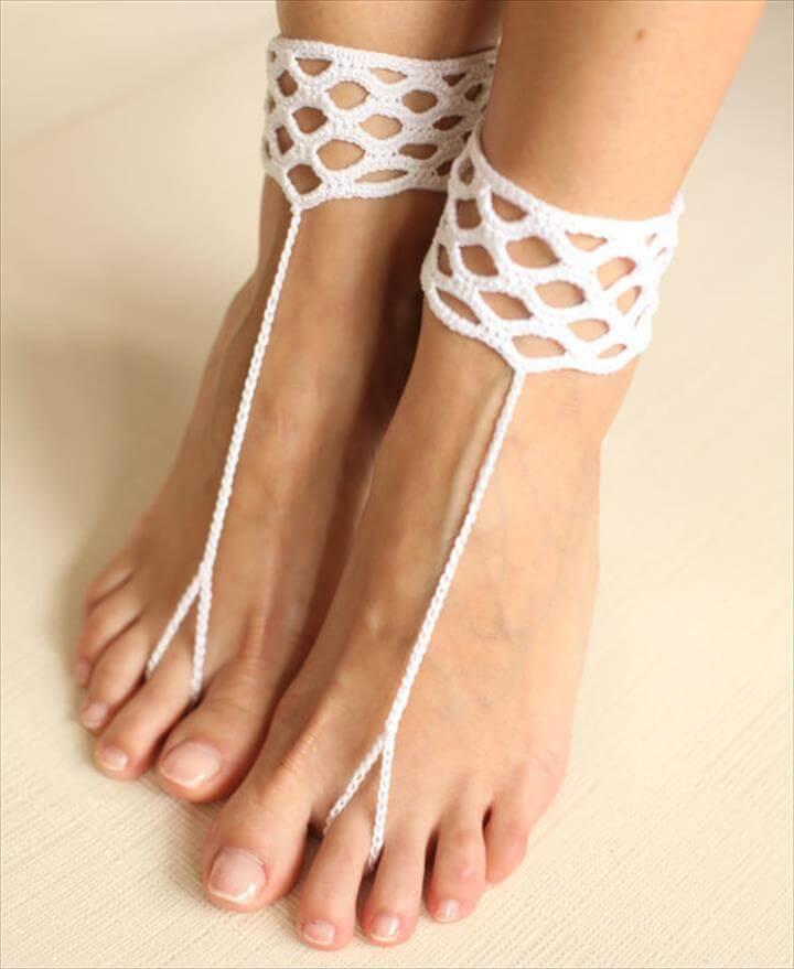 lace crochet sandals