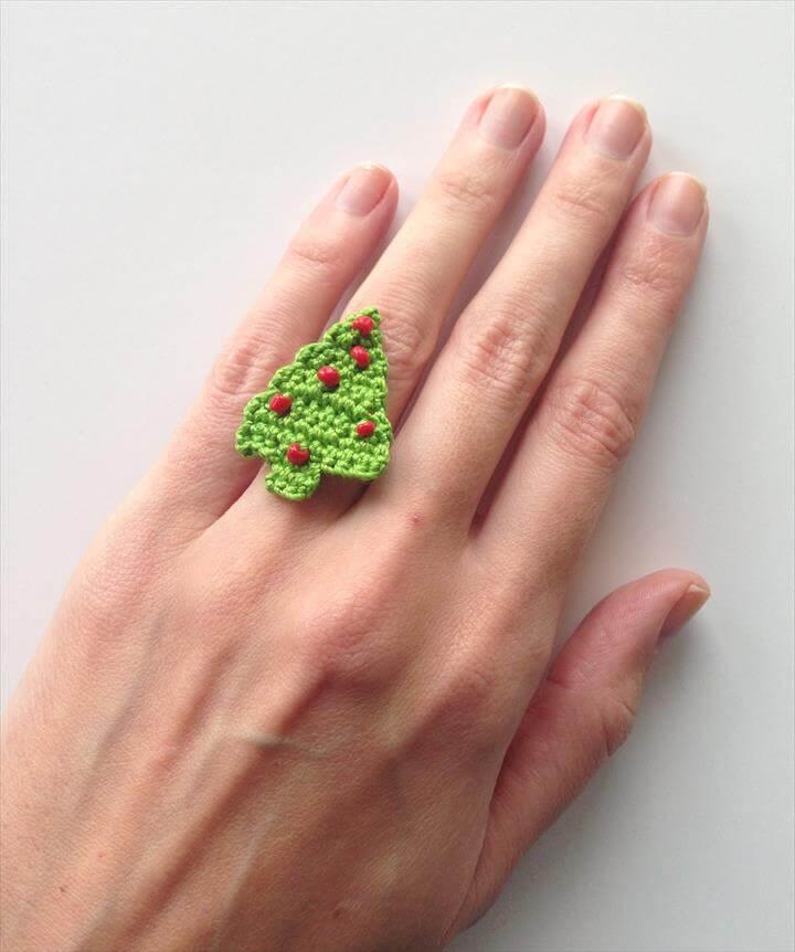 arrow crochet ring