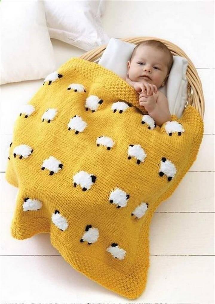 Sheep Baby Blanket